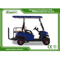 China Fuel Type 3 - 4 Seater 48V Battery Golf Cart Blue Colour With CE Approved on sale
