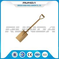 China Wooden Handle Straight Edge Shovel Powder Painting Railway Steel Various Color wholesale