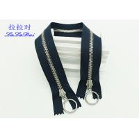 China Euro Teeth Two Way Open End Metal Jacket Zippers 26 Inch Black Tape 10 # Customized wholesale