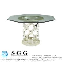 China After eight round dining table with octogonal shaped glass top wholesale