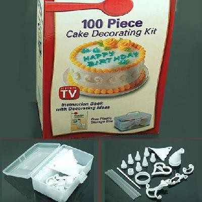 Party and cake decoration images for 100 piece cake decoration kit