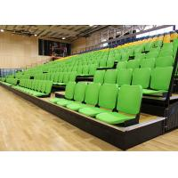 China Gymnasium Retractable Stadium Seating Anti - Slip Plywood Decking With Blow Moulded Seats on sale