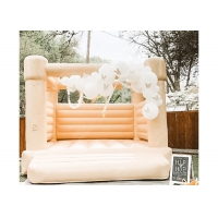 China Outdoor Wedding Party Girls Hot Pink Bouncy Castle Inflatable Jumping Castle wholesale