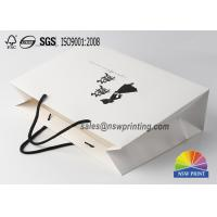 Quality 210GSM White Cardboard Custom Paper Shopping Bags For Cloth for sale