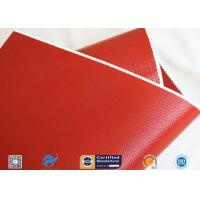 China 1010gsm Glossy Red Silicone Coated Fiberglass Fabric For Engine Insulation Parts wholesale