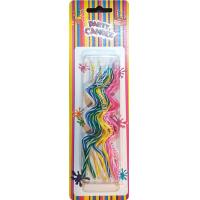China Novel Swirl Shaped Shaped Birthday Candles 5 Colors Pink Blue Yellow Green White wholesale