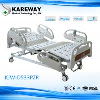 Luxurious Plastic Guard Rails Electric Care Bed Five Functions with Central Brake For ICU Room