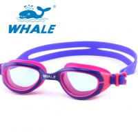 China Crystal Vision Silicone Swimming Goggles Allergy Free With TPR Nose Piece wholesale