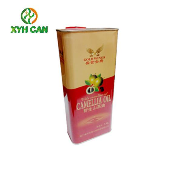 Quality Cylinder Shape 5L Printed Tin Containers Tinplate Cans ROHS Approved for sale