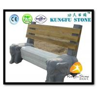 China Xiamen Kungfu Stone Ltd supply Elephant Statues Carvings Blue Limestone Bench In High quality and cheap price wholesale