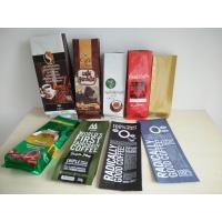 China Aluminum Foil Coffee Bag With Valve / Coffee Beans Plastic Pouches Packaging 250g 500g 1000g on sale