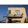 China 7.5m aluminum suspended scaffolding/ gondola platform / susepnded rope platform wholesale