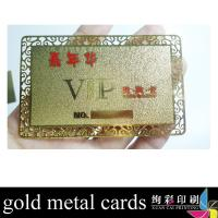 China 13.56MHZ Copper Custom Metal Copper / Golden Business Cards With Magnetic Stripe wholesale
