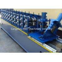 China Steel Garage 2' And 3' Track Door Guide Roll Forming Machine 3kw Motor Power wholesale