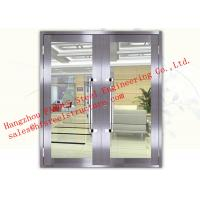 China Galvanized Steel Fireproof Glass Fire Rated Double Doors For Shopping Mall wholesale