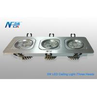 China High Power 9W AC 240V LED Ceiling Mounted Light Fixtures With Three Heads on sale
