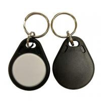 Buy cheap RFID ABS Key Fob Black+White ATA5577 125kHz Frequency Read/Write from wholesalers