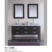 China Double Mirrors MDF Bathroom Vanity , Vanity Dresser With Drawers American Style wholesale
