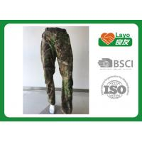 China Windbreak Hunting Camo Pants Thermal  100% Polyester For Running / Fishing wholesale
