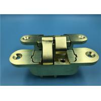 China Concealed Invisible Door Hinges Satin Brass Finish For Heavy Internal Doors on sale