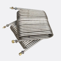 China Double Coil SS316 Air Conditioner Heat Exchanger For Cooling System wholesale
