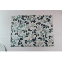 China Small Green Leaves Fashion Dining Table Mats Modern  Placemats For Home / Restaurant​ wholesale