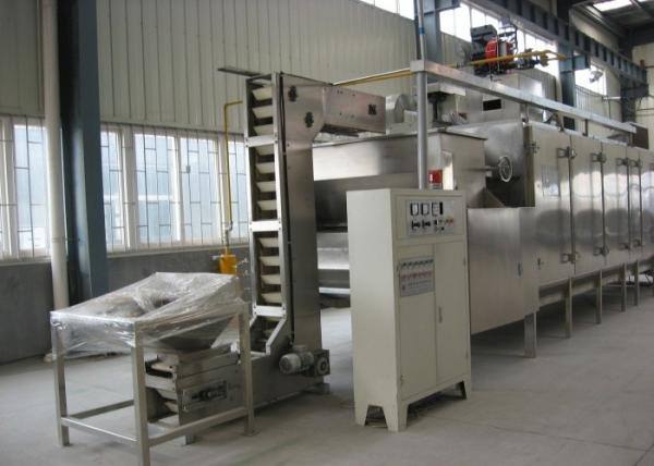 Quality Soybean Cashew Nut Roasting Machine , Continuous Peanut Drying Equipment for sale