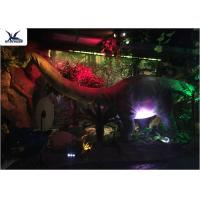 Full Size Garden Statues Moving Dinosaur Models With Light , Realistic Raptor Dinosaur