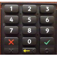 China High Strength Elastic Silicone Rubber Keypad With Backlight Effect , Portable wholesale
