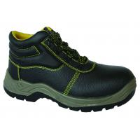 China Popular Embossed leather  industrial safety shoes price safety work boots high neck safety boots wholesale