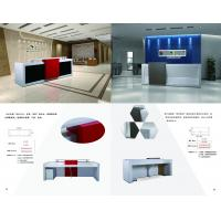 China Modern reception desk with Reception seating cushion furniture made by MDF painting and Storage cabinets drawers wholesale