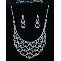 China Bridal Elegant  Water Drop Silver PLATED Wedding & Party Jewelry Sets wholesale