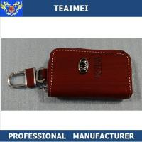 China Men / Ladies Personalized Leather Key Holder Pouch With Card Holders wholesale