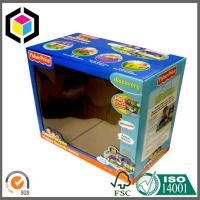 China Micro F Flute Corrugated Carton Box; Clear Plastic Window Toy Packaging Box on sale