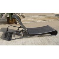 China UV Resistant Black Wicker Sun Lounger For Open Air Bar And Cafe on sale