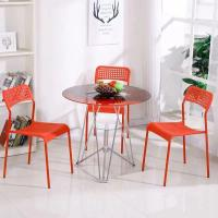 China Living Room Round Glass Top Dining Room Tables 2 Chairs Set Home Kitchen Furniture on sale
