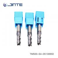 China OEM TiAlN Coated 55HRC Solid Carbide End Mill Cutter For Steel Cutting on sale