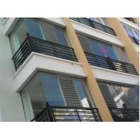 China Reflective Glass Louvers Window Shutters / Anodized  Aluminum Bathroom Window Louvers on sale
