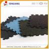 Buy cheap Long life anti slip shock absorbing gym fitness interlock rubber flooring tile from wholesalers