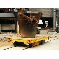 China 100t Aluminum Scrap Bucket Trolley On Rail Casting Ladles Transfer Cart For Steel Plant on sale
