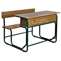 China Double student desk and chair,school bench,student table,writing table,classroom sets,kid's table wholesale
