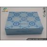 China Blue UV Coating Cardboard Packing Boxes / Decorative Paper Boxes wholesale