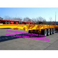 China 40ft Container BPW Axles Skeleton Semi Trailer Trucks With 2/3 Axles on sale