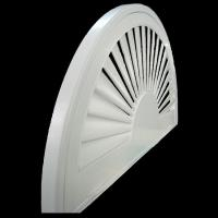 China indoor 100% basswood special shapes shutters for windows with standard tilt bar or hidde wholesale