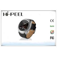 China Round Metal Case Quad Band Watch Phone with 1.6 Inch Touch Screen Bluetooth wholesale
