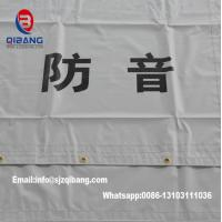 China PVC Sound Barrier Sheet fireproof mesh tent tarpaulin fabric construction fence on sale
