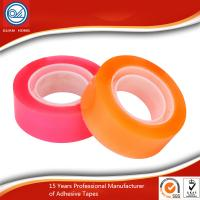 China 18mm Pure Crystal Clear BOPP Stationery Tape Strong Adhesive ISO&SGS Certificated on sale