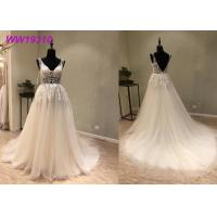 China Lace AppliquesWhite Ball Gown Wedding Dress / Long Beautiful Ball Gown Dresses wholesale