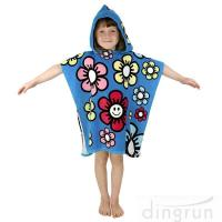 China Durable Cartoon Hooded Poncho Towels / Soft Touch Personalised Poncho Towel Dryfast wholesale