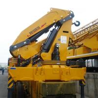 China SQ10ZK3Q 10T Knuckle Boom Truck Crane With Dongfeng 6*2 10T Folding Arm on sale